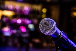 microphone stage
